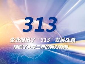 L'entreprise a élaboré la stratégie de développement «313» Précise la direction du développement au cours des trois prochaines années